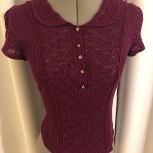 Anthropologie short sleeve sweater